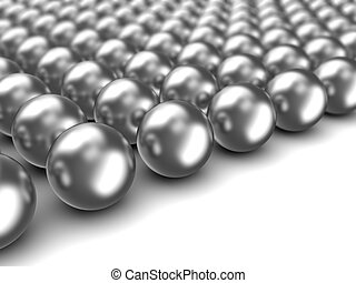 chrome spheres - abstract 3d illustration of chrome spheres...