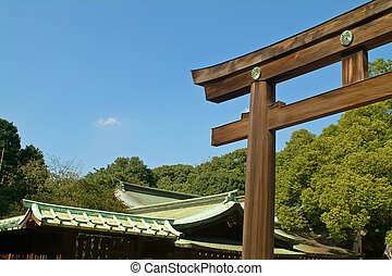 Meiji-Jingo Shrine, Tokyo, Japan - Meiji-Jingo Shrine gate