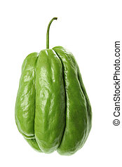 Chayote on White Background
