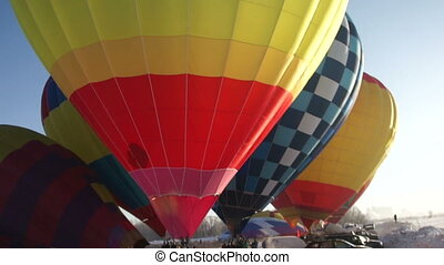 Image of c olorful hot air balloons