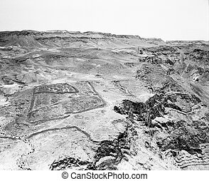 Roman Encampment at Masada - One of several of the Roman...