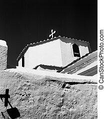 Lindos Church With Two Crosses