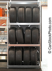 Tyres rack - Shelf for storage spare tyres during off season