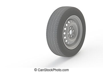 Car tire with steel rim