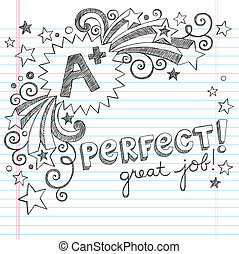 A Plus Great Student School Doodle - A Plus Student Great...