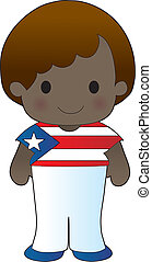 Poppy Puerto Rico Boy - A smiling, well dressed young lad...
