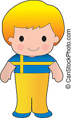 Poppy Sweden Boy - A smiling, well dressed young lad wears...