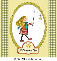girl following a star