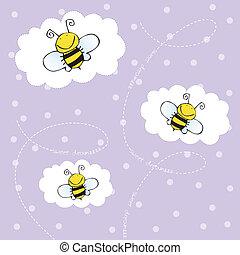 tło, pszczoły