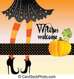 dia das bruxas, Saudação, cartão