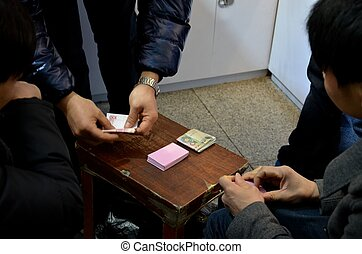Playing hands and cards: gambling