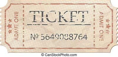 Ticket admit one vintage one. EPS 8 - Ticket admit one...