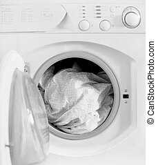 clothes washer, shallow dof