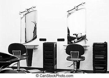barber shop - barbers shop, interior