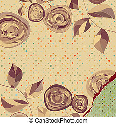 Retro flower background. EPS 8