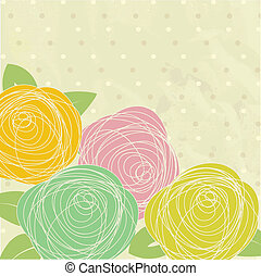 Abstract rose flower Vector illustration