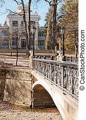 bridges, buildings, Kislovodsk - bridge in front of a...