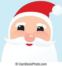 Christmas card with Santa Klaus face