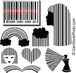 Bar code set - Creative Bar code set in different styles...