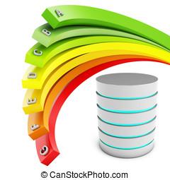 3d Energy efficiency concept