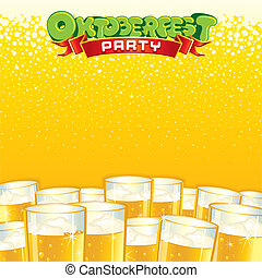Beer Fest Background. Bright Vector Template