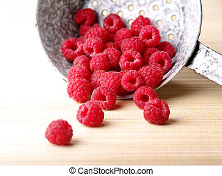 Raspberries - Overexposed photo of fresh raspberries...