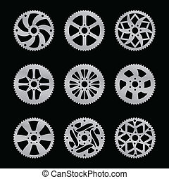 Rear sprocket vector pack - Vector pack of nine bike rear...