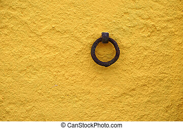 Anchor ring - The close-up of an anchor ring on a house...