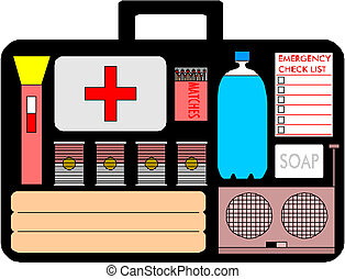 Medical suitcase- First Aid kit Vector
