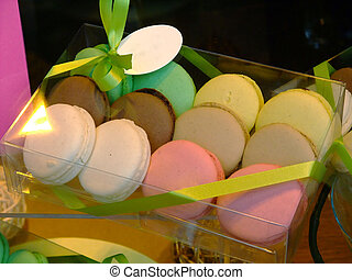 Assorted macaroons - Gift box with french coloured macaroons...