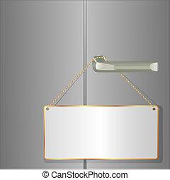 door plate hanging on the handle