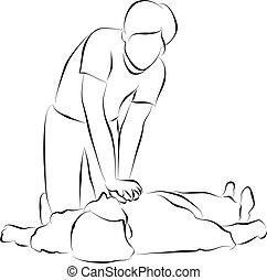 CPR - Cardiopulmonary resuscitation or  CPR