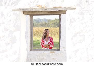 Conceptual portrait confident mature woman - Conceptual...