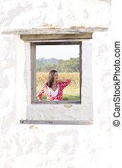 Concept portrait confident mature woman - Conceptual...