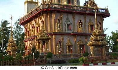 thai temple monument tilt