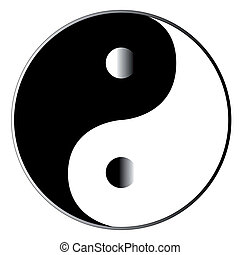 Yin Yang - Yin and Yang in black and white with certain...