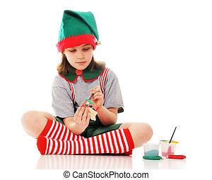 Working Christmas Elf
