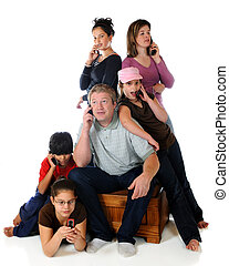 Gabby Group - A group of six adults and kids all...