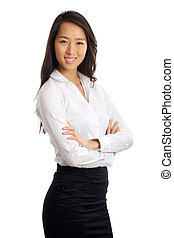 Asian Business Woman - Formal Asian Business woman with...
