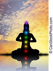 Meditation chakra - chakra silhouette
