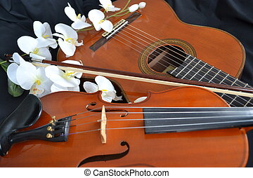 Strings and Flowers - Romantic or Sentimental Looking...