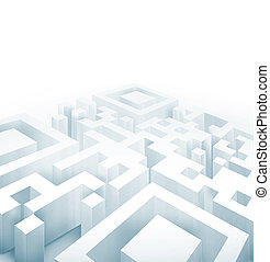 QR labyrinth - abstract background with a light QR code or...