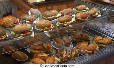 german bakery fresh sanwiches count - Pan over fresh...