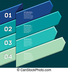 Infographic with numbered ribbon pointers - Infographic with...