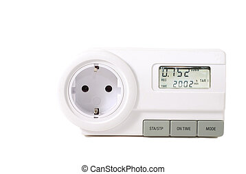 Energy meter metering electrecity in household