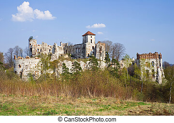 Castle Rudno - Poland. Medieval fortress in the Jura region