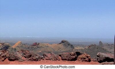 volcanic crater water vapor eruption