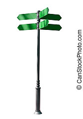 guidepost Isolated over white background indexes, signpost
