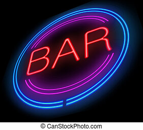 Bar sign - Illustration depicting a sign with a bar concept...