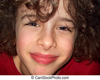 A cute little boy smiles - A smiling face of a sweet cute...